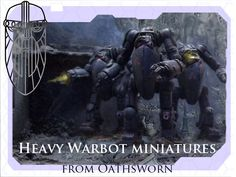60mm tall metal multipart robot miniatures and support drones, perfect for sci-fi wargaming.
