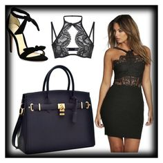 """""""LBD"""" by emily-louise-webberley on Polyvore featuring Boohoo, Alexandre Birman and Agent Provocateur"""