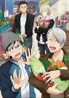 This is all I want for season 2. Viktor and Yuri slowly falling deeper in love, and Yurio and Otabek enjoying their friendship while keeping the two lovebirds in check.