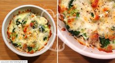 Low carb broccoli mushroom feta gratin - low carb recipes - Low carb recipe for a delicious low carb broccoli mushroom feta gratin. Low in carbohydrates and ea - Vegetarian Recipes Dinner, Veggie Recipes, Low Carb Recipes, Healthy Recipes, Low Carb Lunch, Low Carb Diet, Law Carb, Healthy Cooking, Meals