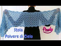 Crochet Shawl, Shawls And Wraps, Tote Bag, Hair Styles, Pattern, Handmade, Crochet Ideas, Youtube, Beautiful