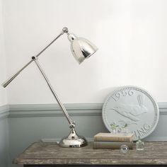 Albury Desk Lamp from Rowen & Wren. For the guest bedroom? Bedside Table Lamps, Bedroom Lamps, Desk Lamp, Bedroom Decor, Master Bedroom, Oak Table, Bedroom Styles, Scandinavian Interior, Interior Decorating