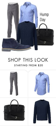 """Hump Day"" by iammisterimage on Polyvore featuring Prada, Lands' End, Brimarts, men's fashion and menswear"