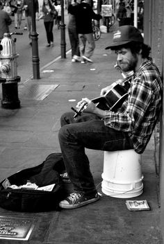 New Orleans, the only place that you see a bum and WANT to give him money...