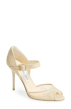 I love these Jimmy Choo lace pumps...
