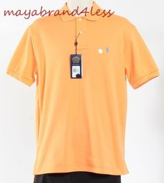 RALPH LAUREN POLO CLASSIC FIT SHORT SLEEVE POLO SHIRT FAIR ORANGE SZ S #RALPHLAUREN #PoloRugby