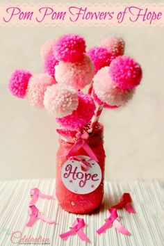 Pom Pom Flowers of Hope; love this!
