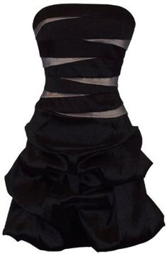 #DressUpPartyDown Strapless Bandage Mini Bubble Dress Prom Party Formal Gown
