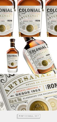 Ron Colonial packaging design by Appartement 103 - Brand Design - https://www.packagingoftheworld.com/2018/06/ron-colonial.html
