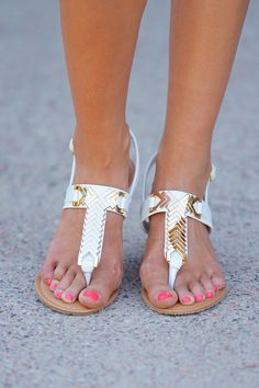 One Step Closer Sandal - White from Closet Candy Boutique - #restock #shop