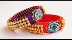 How to make silk thread bangles at home !!!! TUTORIAL - YouTube