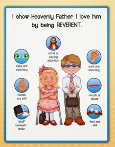 Poster sobre la Reverencia Another FREEBIE from susan fitch design Primary Songs, Primary Singing Time, Primary Activities, Primary Lessons, Church Activities, Lds Primary Reverence Ideas, Visiting Teaching Handouts, Primary Teaching, Primary Chorister