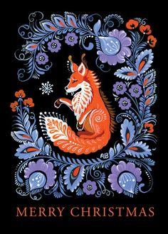 Easter Illustration, Art And Illustration, Folk Art Flowers, Flower Art, Illustrator, Posca Art, Scandinavian Folk Art, Fox Art, Arte Popular