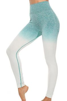 Seamless Gradient Bra Leggings Set – myslady Activewear Sets, Drawstring Pants, Red And Grey, Sport Fashion, Colorful Leggings, Long Sleeve Shirts, Bra, Clothes For Women, Style