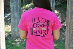 Love is in the hair Cosmetology Monogram Tshirt by DreamThread
