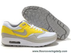 7215fef3e306 Nike Air Max 1 Holland White Neutral Grey Vibrant Yellow Mens 308866-102  Outlet Holland