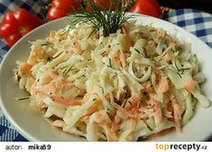Zelný salát s mrkví a koprem recept - TopRecepty.cz Cabbage, Salads, Treats, Vegetables, Ethnic Recipes, Food, Fitness, Decor, Sweet Like Candy