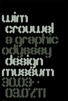 Design Museum Shop: Wim Crouwel, A Graphic Odyssey Poster: MuirMcNeil
