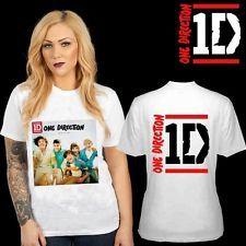 NEW ONE DIRECTION 1D UP ALL NIGHT CD ALBUM TWO SIDE WHITE TEE SHIRT S,M,L,XL,2XL