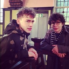 Olly Alexander and Simon amstell