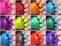 China Glaze Summer 2015 Electric Nights Collection Swatches & Review