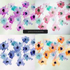 Color tests :) #gatosyrinocerontes #surfacedesign #design #pattern #patterdesign #design #watercolor #color #flower #nature Instagram Posts, Pattern, Rhinos, Gatos, Colors, Model, Patterns, Pattern Print, Texture