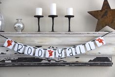 Halloween Banner Decoration - Boo Y'all - Photo Prop or Decoration