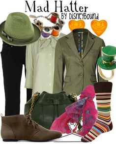 """You would be mad not to love this slightly zany and completely mad Disneybound """"Alice in Wonderland"""" Mad Hatter inspired outfit!! ♥"""