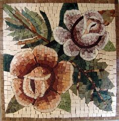"""12x12"""" Marble Mosaic Pattern Art Tile Accent Piece Insert by mozaico. $90.00. Mosaics have endless uses and infinite possibilities! They can be used indoors or outdoors, be part of your kitchen, decorate your bathroom and the bottom of your pools, cover walls and ceilings, or serve as frames for mirrors and paintings."""