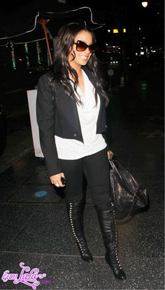 Love these boots on La La Anthony