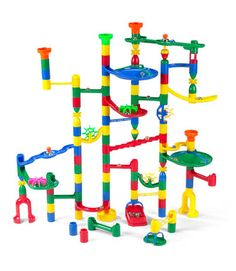 Marbulous Marble Run- My boys love this so much and I actually love sitting down with them for hours building, launching marbles, and repairing!  It's challenging for my ~4yo yet my ~2yo can participate as well.