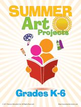 Summer Art Projects (K-6)  The fun art projects in this packet will keep students engaged in learning during the summer. Kids can use paper and paint to create fun crafts, make their own play dough with simple recipes, document their summer with a photography project, build their own molds, and more! #summerlearning