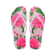 DAMES FILLES /ét/é Plage M/étallique Floral Flip Flop piscine Tongs