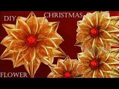Ideas para Navidad haz fácil flores con increíbles decoraciones - YouTube