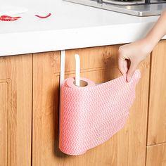 Kitchen Paper Hanger Sink Roll Towel Holder Organizer Rack Space Save Bathroom Roll Paper Shelf Hanging Door Hook Rack Holder #Affiliate