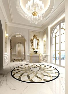 Love the idea of circular tiling at the entrance