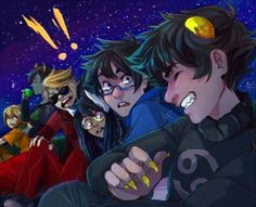 *kanaya casually drinking blood in the background // Karkat has a supermodel smile, n'est ce pas?