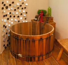 wooden barrel tub bathtub styles