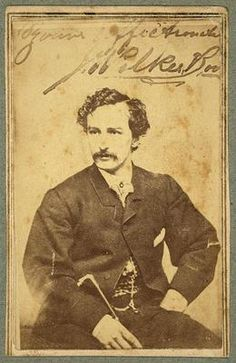 "John Wilkes Booth, assassin of President Lincoln, seated here in early 1860's Studio portrait. This Carte de Visite is autographed/signed by Booth with, ""Yours, affectionately, J. Wilkes Booth""."