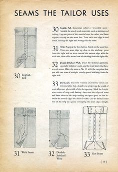 Seams the Tailor Uses, 1939 Sewing Secrets | Best and Essential Sewing Tips, Tools, and Tricks for Beginners | Sewing Hacks | Learn How to Sew