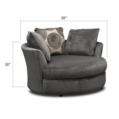 Catalina Gray Swivel Chair | Furniture.com