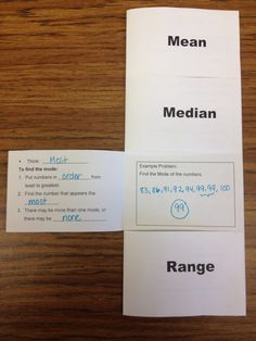 Two Foldables-Ratio, Rate, and Proportion and Measures of Central Tendency, maybe add to an interactive math notebook. Math Strategies, Math Resources, Math Activities, Math Games, Math Tips, Educational Activities, Math Teacher, School Classroom, Teaching Math