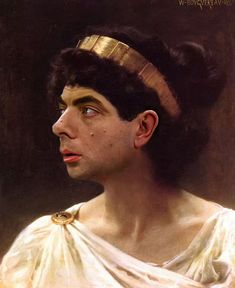 Blackadder looks positively beautiful in this work by William Adolphe Bouguereau.   11 Art Masterpieces Improved By Mr Bean