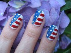 4th of july -  nail arts
