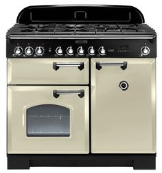 Rangemaster Classic Deluxe 100: don't need 2 ovens (or 9 ranges). But it's dual fuel  a good look.
