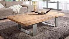 Naturholz Unikat Couchtisch Massiv Altholz ALU Teak Antik Design Wohnzimmertisch | eBay