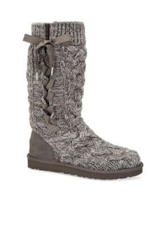 Look and feel great in these tall knit boots! Designed for your comfort, these cozy boots feature an UGGpure sock liner and a pure cotton knit upper.