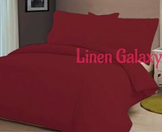 Double, Black Linen Galaxy Fitted Valance Sheets Valances Polycotton T180 Percale Pillow Cases Sold Separately