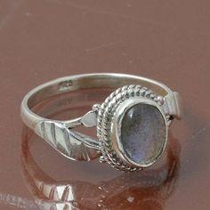 LABRADORITE 925 STERLING SILVER RING JEWELRY 2.25g DJR6990 SIZE 6.5 #Handmade #Ring