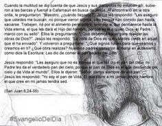 """#EvangelioDelDia ... """"La obra de Dios es que ustedes crean en aquel que él ha enviado"""""""
